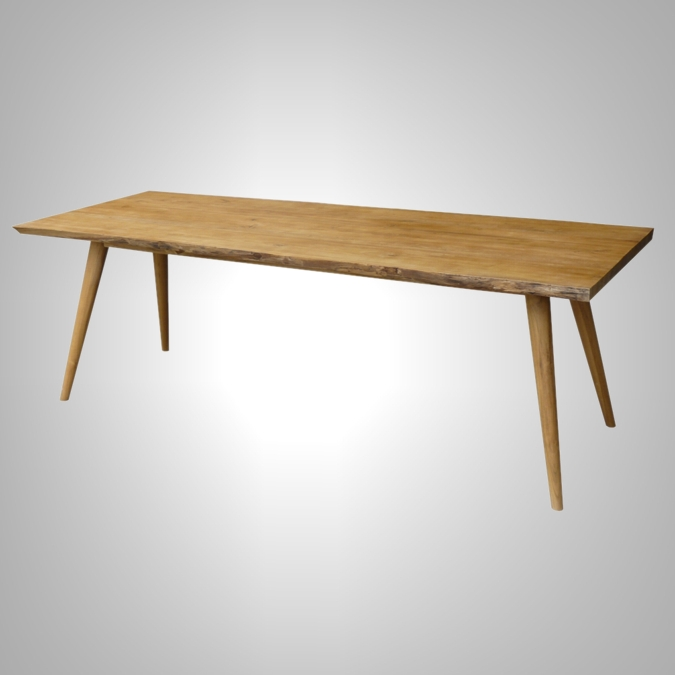Wave Dining Table with Retro Leg